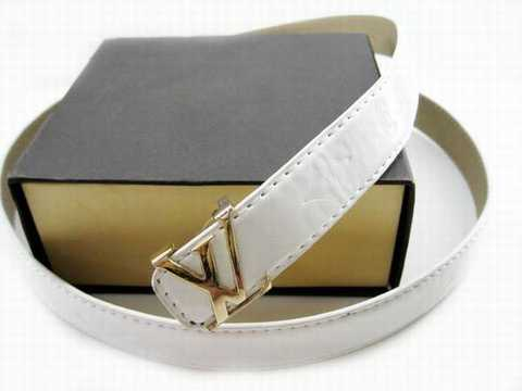 Ceinture Louis Vuitton Blanc