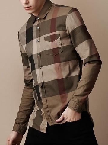 chemise burberry pour homme,Burberry Pas Cher Court Chemise Homme 047e7a86e5b