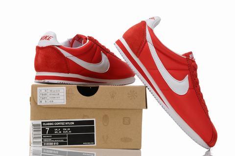 Hommes Nike Cortez Noir/Rouge